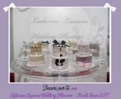 """Fondi Sposi"" mini wedding cake"