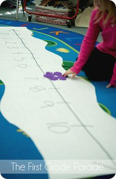 Making Ten with a Number Line (Snow Themed), by Cara Carroll @ The First Grade Parade