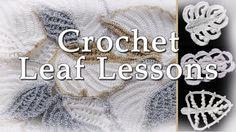 crochet leaf tutorials from sheruknitting