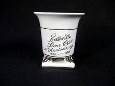 Sold  Vintage 1965 Lion's Club 40th Anniversary Porcelain Cup. Belleville NJ.