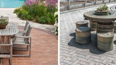 Explore what different paving angels, a mixture of textures, color combinations and custom inlays can do to completely transform your outside living space. Outside Living, Outdoor Living, Outdoor Decor, Paving Design, Pattern Mixing, Living Spaces, Design Ideas, Patio, Make It Yourself