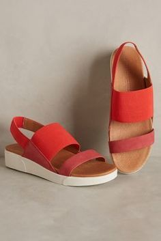 Gentle Souls Blithe Flatforms Red 10. Shoes