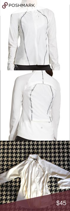 Athleta Frontrunner jacket Athleta zip up jacket in excellent condition.  Has reflective strips, thumb holes and lots of pockets.  Runs true to size! Athleta Jackets & Coats