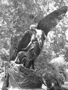 Angel rising from the Pelham Clinton Memorial   Brookwood Cemetery, Surrey, England.