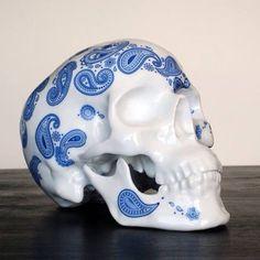 Fancy - Skull Cashmere Bleu by NooN