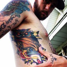 Tattoo of @inkedirishmen .   FOLLOW:  @inkedirishmen   FOLLOW:  @inkedirishmen   FOLLOW:  @inkedirishmen . #tattoo #tattoos #tat #ink #inked #tattooed #tattoist #coverup #art #sleevetattoo #photooftheday #tatted #instatattoo #bodyart #tatts #tats #amazingink #tattedup #inkedup