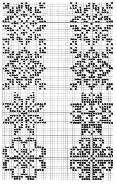 "Photo from album ""Жаккард"" on Yandex. Cross Stitch Borders, Cross Stitch Designs, Cross Stitch Charts, Cross Stitching, Cross Stitch Embroidery, Cross Stitch Patterns, Fair Isle Knitting Patterns, Knitting Charts, Knitting Stitches"