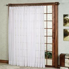 Splendor Semi Sheer Pinch Pleat Patio Panel
