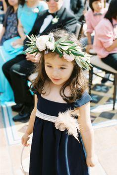 How sweet is this floral crowned flower girl?! http://www.stylemepretty.com/vault/gallery/38496 | Photography: Carmen Santorelli - http://carmensantorellistudio.com/