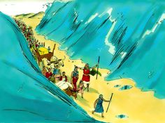 Free Bible images: Free Bible illustrations at Free Bible images of Moses and the Red Sea crossing. (Exodus 13:7 - 15:21)
