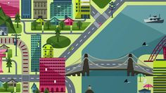 Crush | Siemens - The Crystal, Did You Know? Map Illustration City Illustration, Live Action, Did You Know, Cities, Buildings, Crushes, Things To Come, Animation, Map