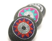 painted stones by Amy Komar