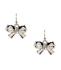 Kate Spade New York Silver Finishing Touch Bow Drop Earrings NEW #KateSpade #DropDangle
