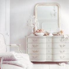 A little too frilly for me, but just a little. My bedroom is almost all white, but this takes it just a little farther.