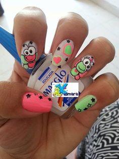 Creemos que estos Pines pueden gustarte - alexaverdesoto1980@gmail.com - Gmail Spring Nail Colors, Nail Designs Spring, Spring Nails, Summer Nails, Get Nails, Love Nails, Pretty Nails, Hair And Nails, Creative Nail Designs
