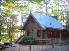 I would love something close to this on our little acreage! Hillside Cabin in the North Georgia Mountains