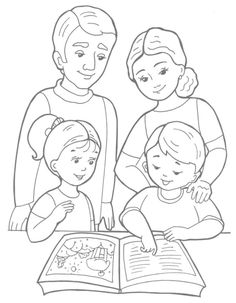 Bible Coloring Pages, Coloring Sheets, Coloring Books, Kindergarten Drawing, Kindergarten Coloring Pages, Family Drawing, Drawing For Kids, Preschool Colors, English Lessons For Kids