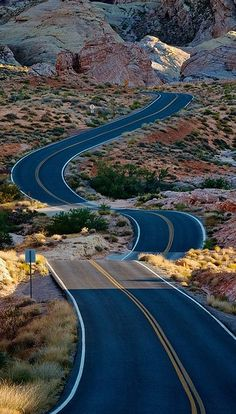 a winding road ..