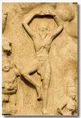Ancient yoga stone carving