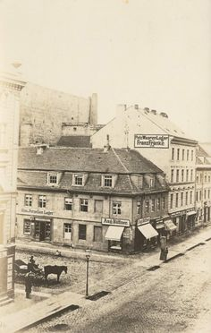 Friedrichstraße Ecke Jägerstraße  Das Bild müsste so zwischen 1840–60 entstanden sein.