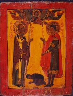 Saints John Chrysostom and George Vatican Library, John Chrysostom, Russian Culture, Russian Icons, Best Icons, Byzantine Icons, Religious Images, Icon Collection, Orthodox Icons