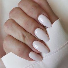 ♥ ♥ ♥ ♥ ♥ ♥ ♥ ♥ ♥ ღ♥Hope you like this collection Stunning almond acrylic nails design! ღ♥ Most Gorgeous Almond Acrylic Nails Ideas for Prom - Page 4 ♥ , ♥ Almond Acrylic Nails, Almond Shape Nails, White Almond Nails, White Oval Nails, Oval Nail Art, Matte White Nails, Almond Nail Art, Nagel Hacks, Colorful Nail