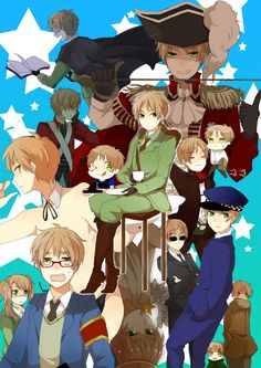 by しろたみ…- Hetalia - Many versions of England -  http://www.pixiv.net/member.php?id=77541