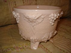 Vintage Jeanette Glass pink milkglass footed by ShabbyJunkbyLaura, $8.00