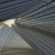 Liège-Guillemins station by Santiago Calatrava . Not a home but a beautiful building that can inspire