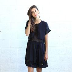 On Sale Eyelet Trim Party Dress Black party dress. by Naftul