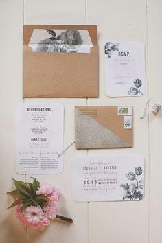 Botanical Bloom Wedding Stationery Suite