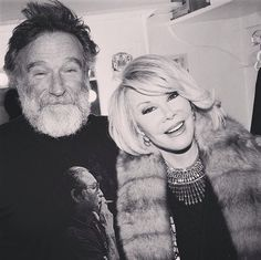 Heaven just got a whole lot funnier! Joan Rivers and Robin Williams.