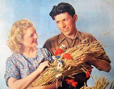 PHOTO publicitaire vintage années 50FERMIERS par LeFrenchBazaar