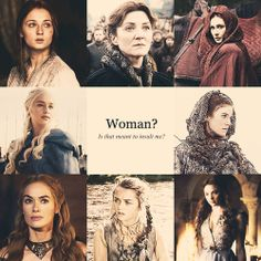 The women of Game of Thrones. All stronger than at least 2 different male characters. I'm sure you can guess them