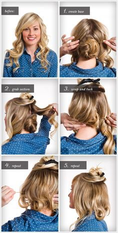 Pretty Simple :: FAUX BOB [I wonder if I could replicate this in a less messy way. -UDG]