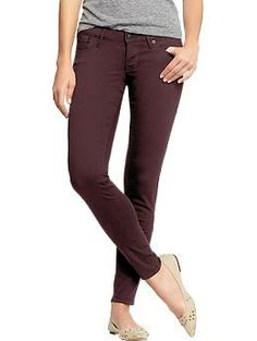 Women's The Rockstar Color-Wash Jeans: Wild Garnet | Old Navy: Size, 12 Long (online only, dang it!)