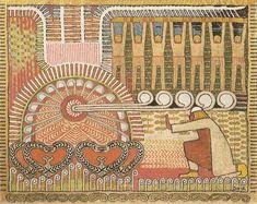 Ilmarinen forges the Sampo Romanticism, My Heritage, Faeries, Illustration Art, Illustrations, Finland, Mythology, Mystic, Folk Art