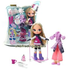 MGA Entertainment Bratz Kidz Winter Vacation Series 7 Inch Doll Set - CLOE with 2 Complete Outfits, Shoes, Skis, Poles, Mug, Hairbrush and Keychain