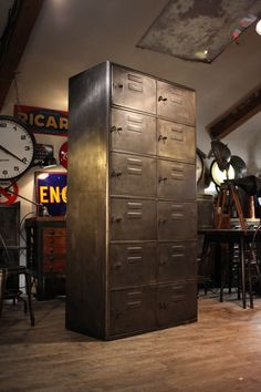 meuble de metier ancien industriel