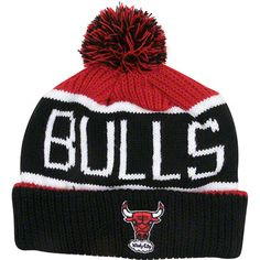Chicago Bulls Calgary Pom Top Cuff Knit Hat