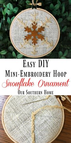 Easy DIY Snowflake O