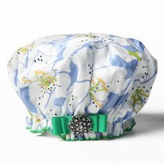So this is totally crazy, I know. But I've always had a secret love (because it had to be secret) for shower caps.   This one is soooo cute!  Dry Divas Blue Me A Kiss Shower Cap