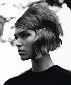 Love short hair!  This mod bob is all about a modern twist on a long-ago style...something I'm seeing in all of fashion.