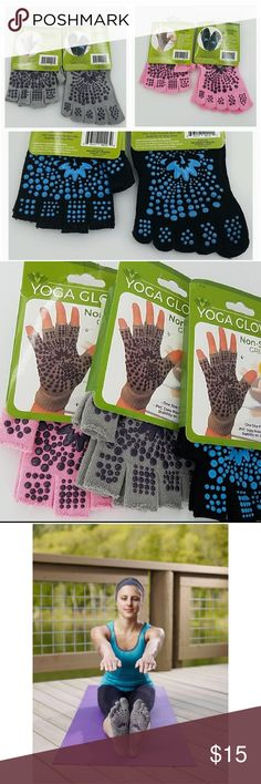 Aqua ProsourceFit Grippy Fingerless Yoga Gloves Anti Non Slip Resistant Sticky
