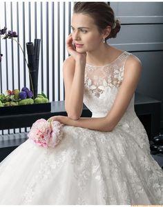 2015 A-linie Exklusive Süße Brautkleider aus Softnetz mit Applikation