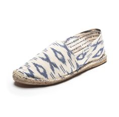 Ikat - White & Blue Espadrilles for Women from Soludos - Soludos Espadrilles