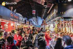 The Boqueria Market is crowded no matter the season... What do you like most about it?  Learn more: www.gwo.is/boqueria-g #Barcelona #GowithOh
