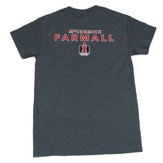 Farmall IH Stacked Logo Men s T-shirt - Heather Charcoal - Trenz Shirt  Company be4a34ebbf1d