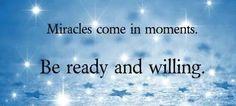 miracles do happen~