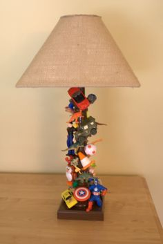 with a more interesting shade, wouldn't this lamp be fun anywhere?